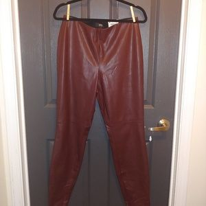 Beautiful maroon Berry faux leather pants